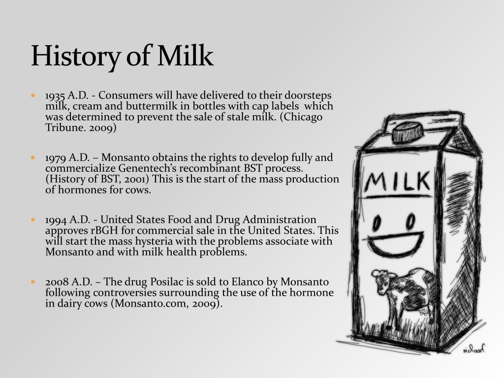 History of Milk