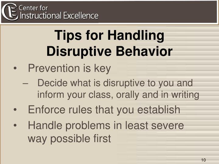 Tips for Handling
