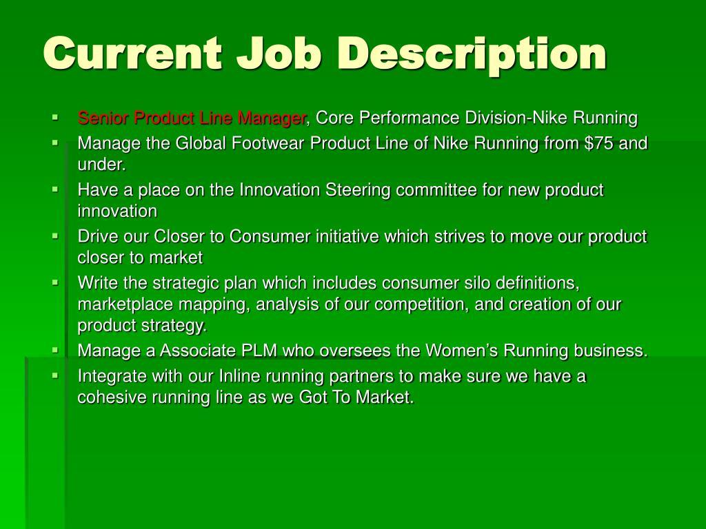 Current Job Description