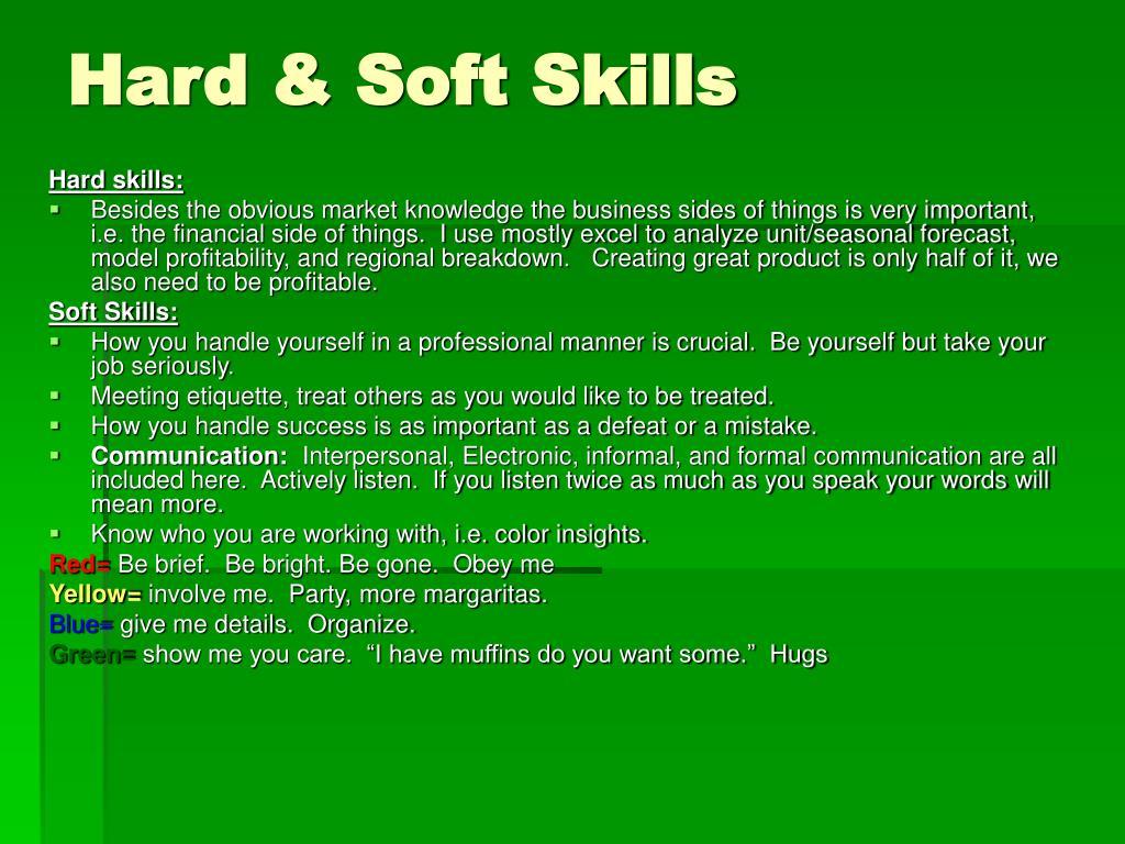 Hard & Soft Skills