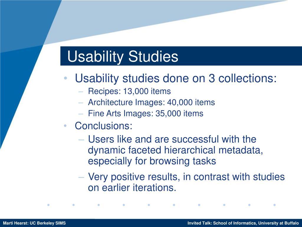Usability Studies
