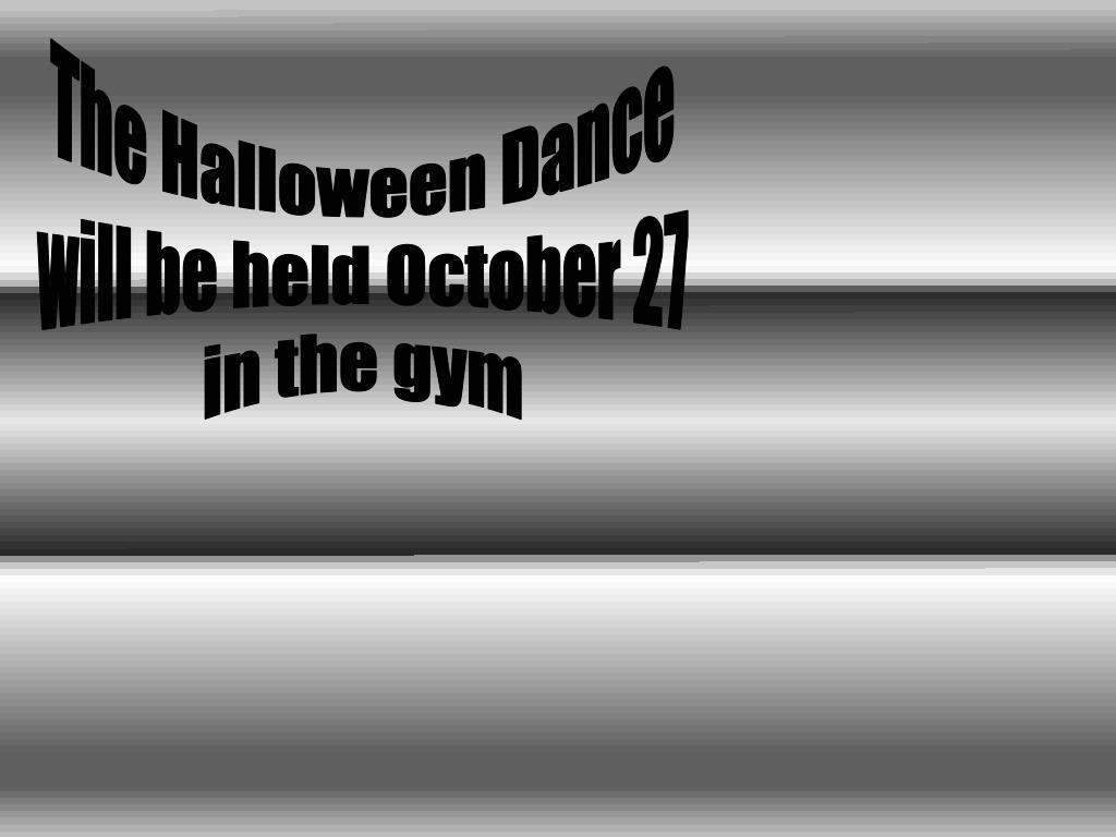 The Halloween Dance