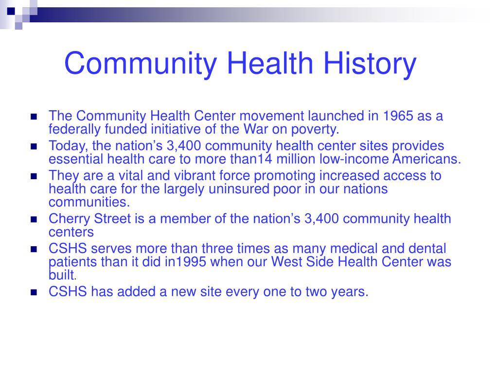 Community Health History