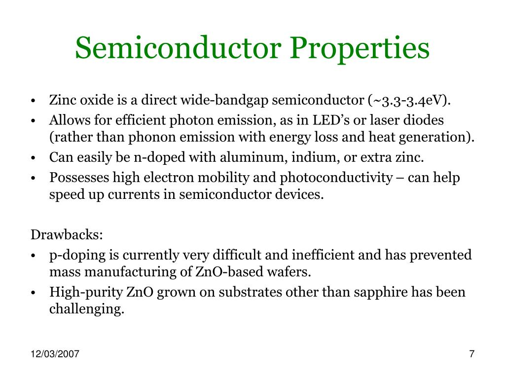 Semiconductor Properties