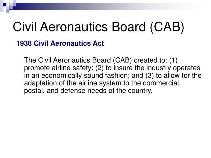 Civil Aeronautics Board (CAB)