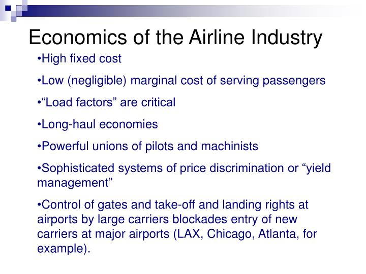 Economics of the airline industry