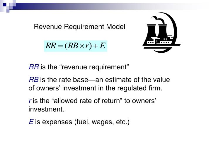 Revenue Requirement Model