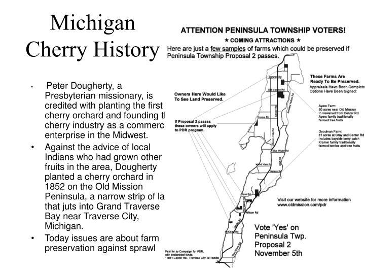 Michigan Cherry History