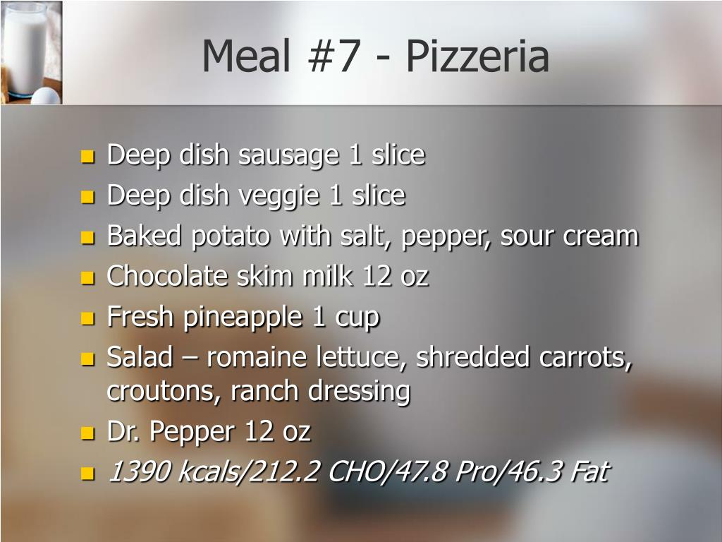 Meal #7 - Pizzeria