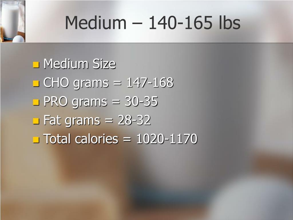 Medium – 140-165 lbs