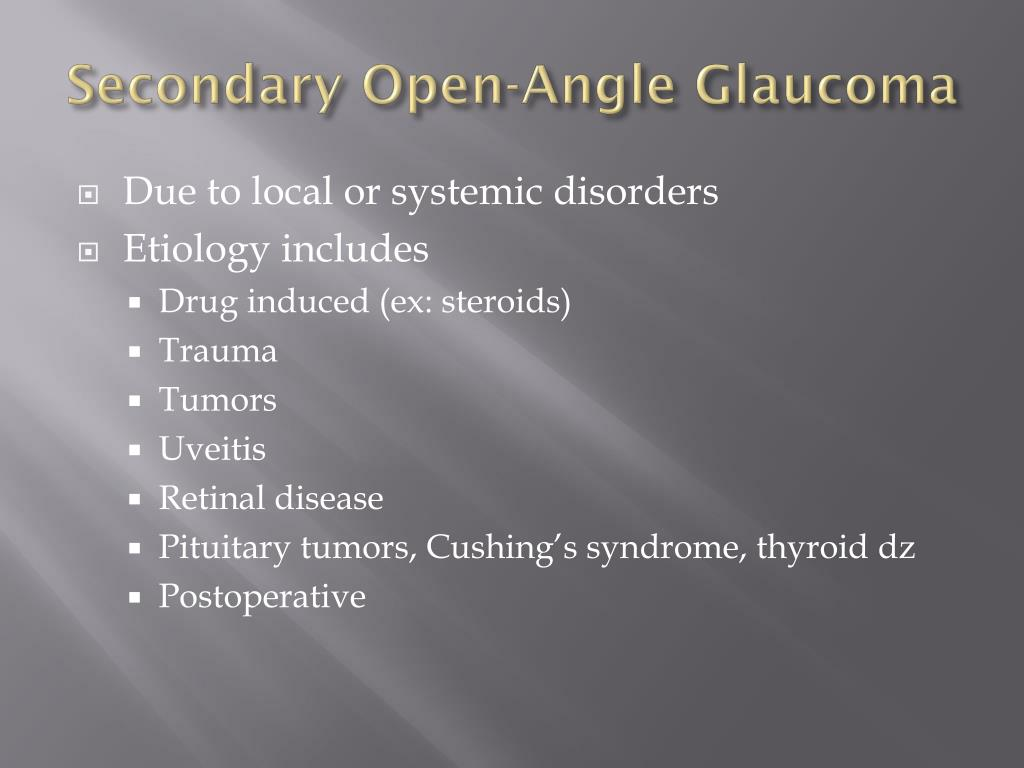 Secondary Open-Angle Glaucoma