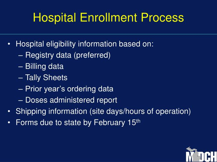 Hospital Enrollment Process