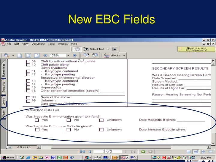 New EBC Fields