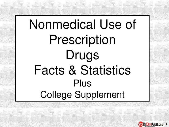 Nonmedical Use of Prescription