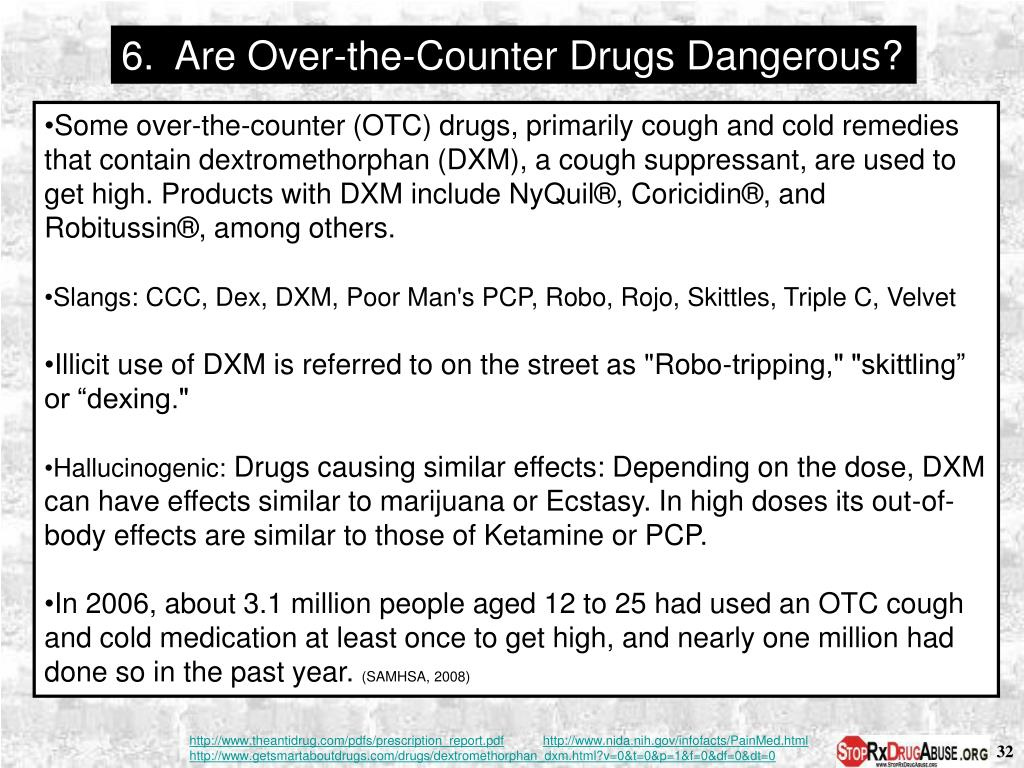 6.  Are Over-the-Counter Drugs Dangerous?