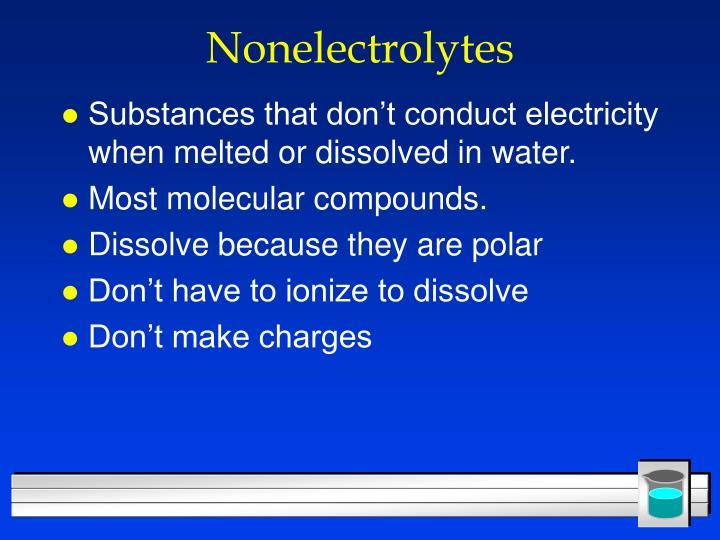 Nonelectrolytes