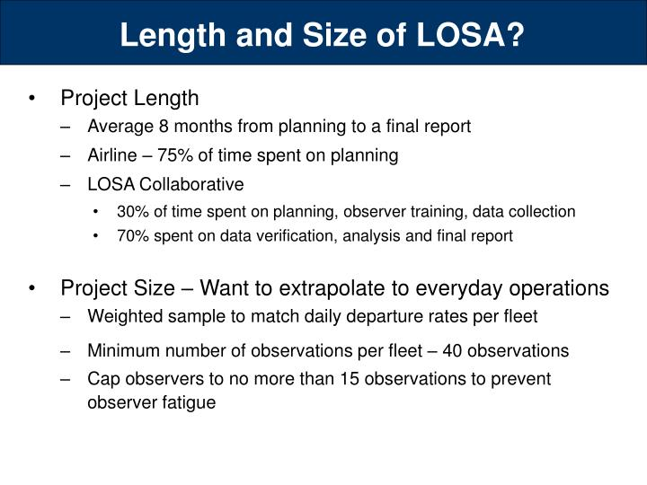 Length and Size of LOSA?