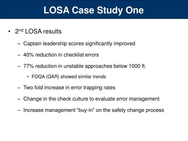 LOSA Case Study One