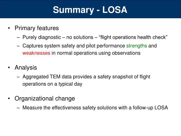 Summary - LOSA