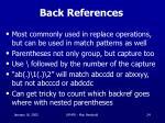 back references