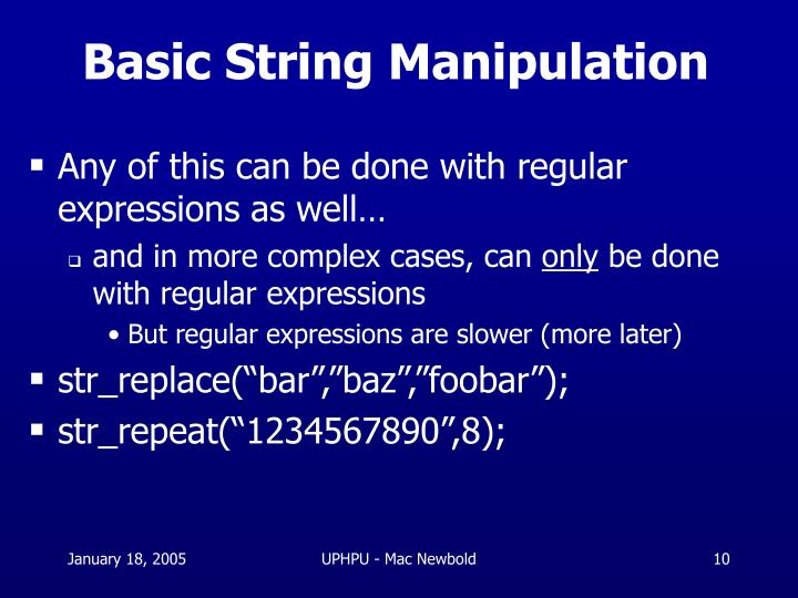Basic String Manipulation