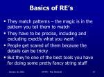 basics of re s