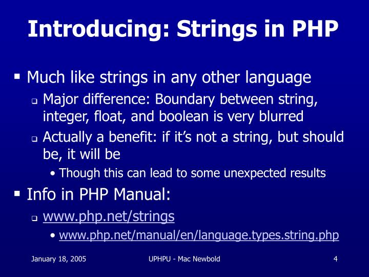 Introducing: Strings in PHP