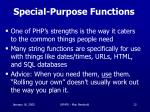 special purpose functions