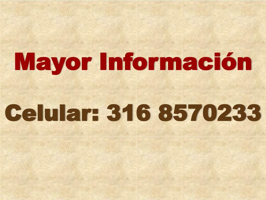 Mayor Información