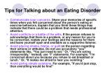 tips for talking about an eating disorder