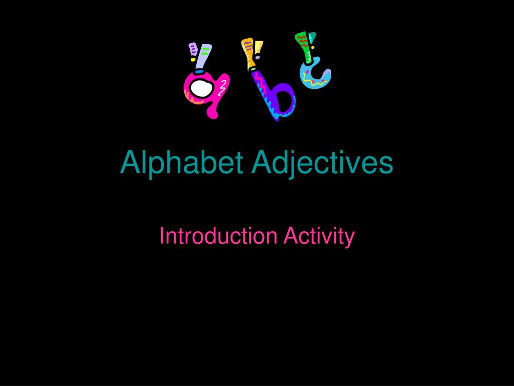 Alphabet Adjectives
