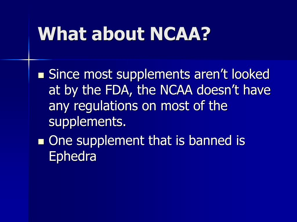 What about NCAA?