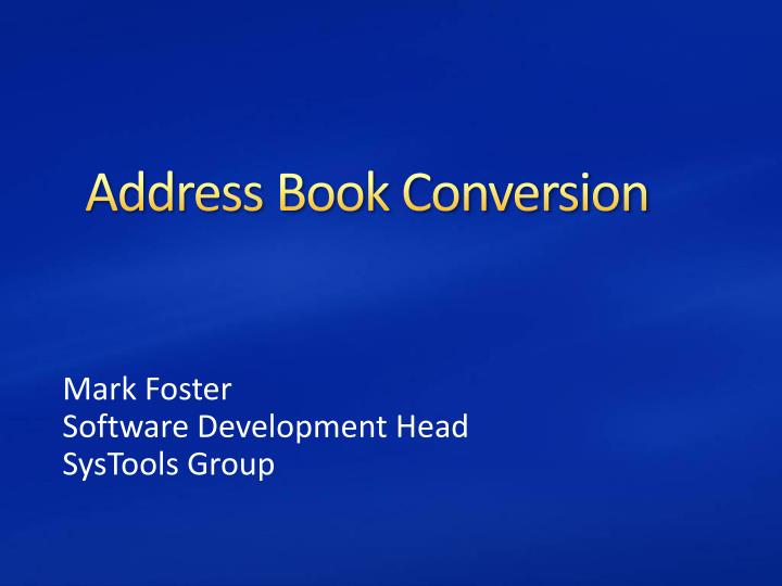 Address book conversion l.jpg
