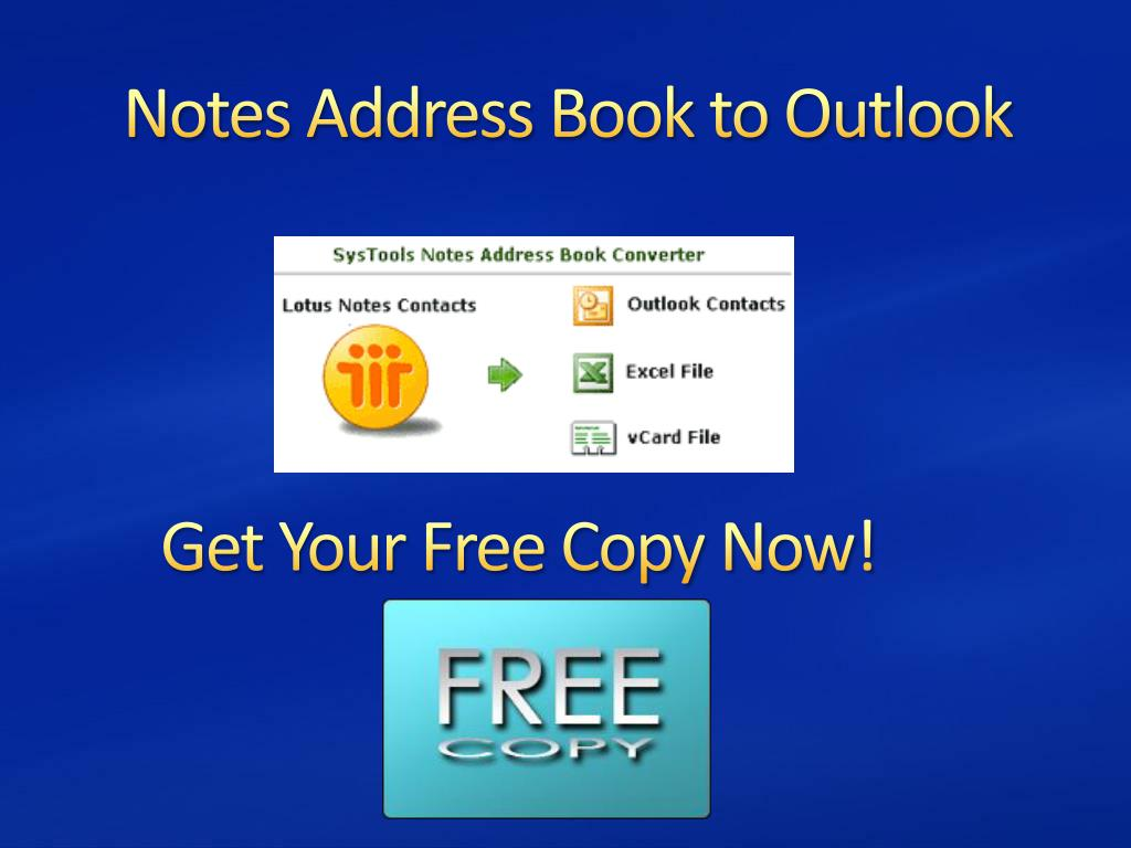 Notes Address Book to Outlook