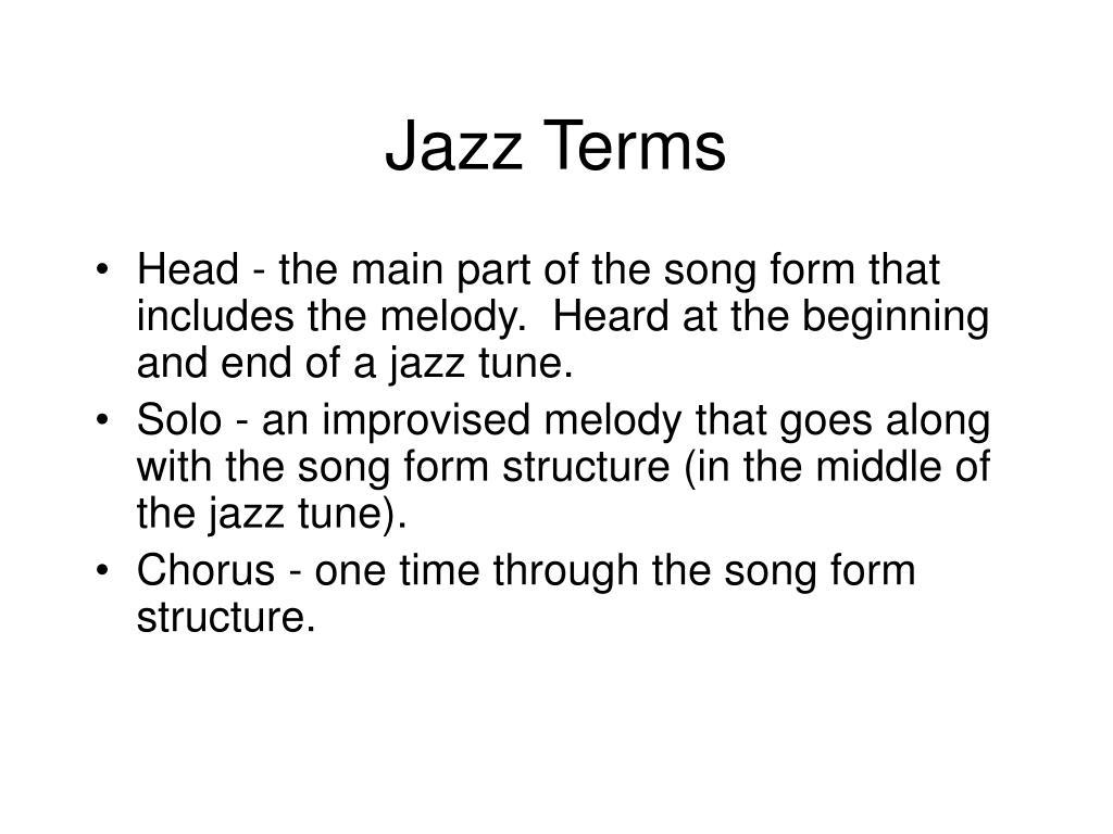 Jazz Terms
