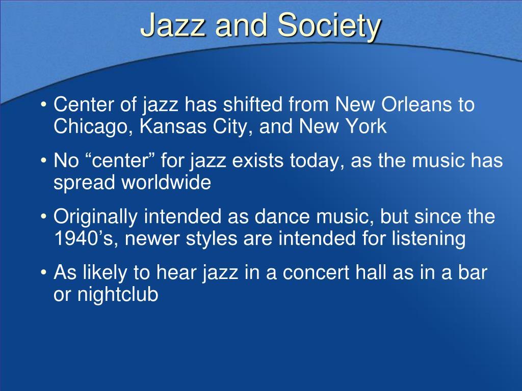 Jazz and Society