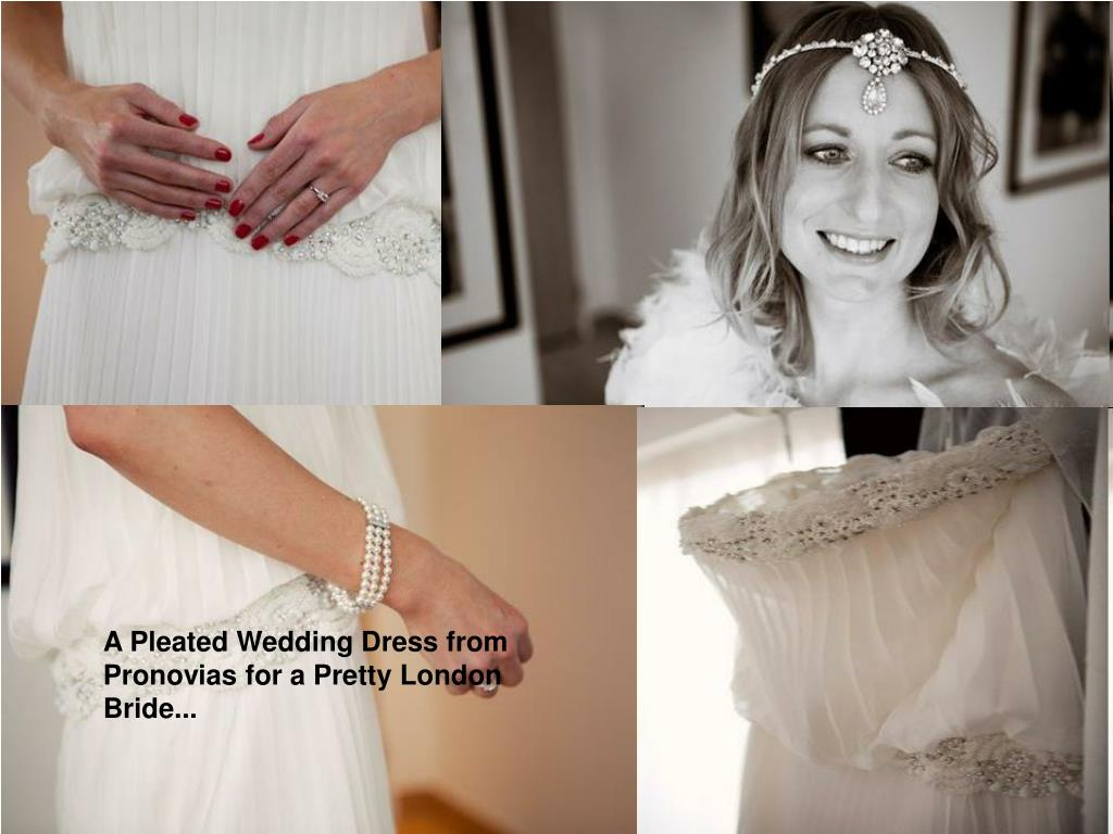 A Pleated Wedding Dress from Pronovias for a Pretty London Bride...