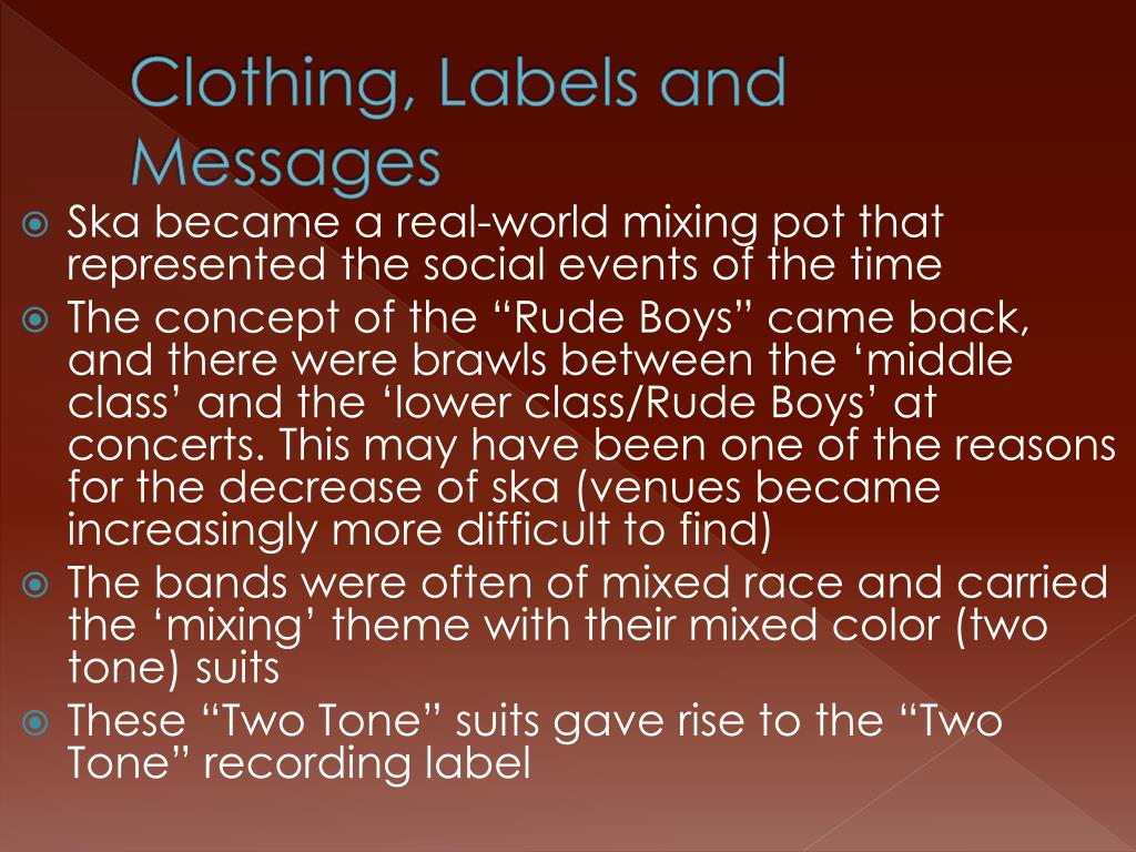 Clothing, Labels and Messages