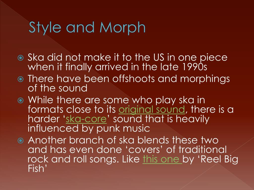 Style and Morph