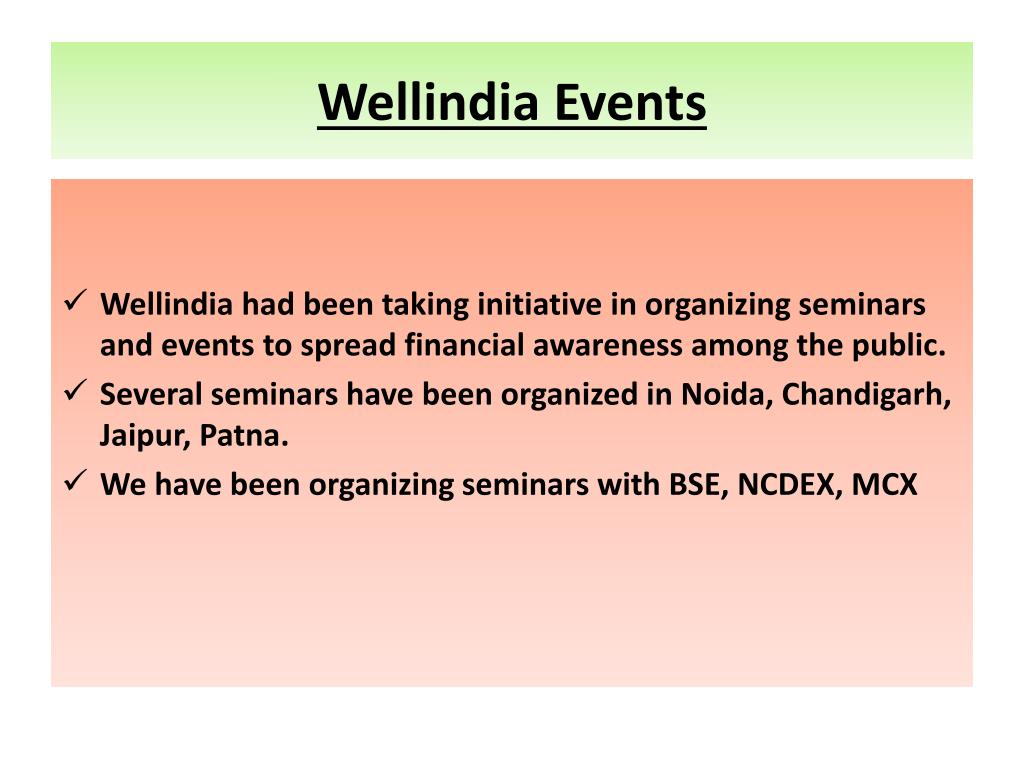 Wellindia Events