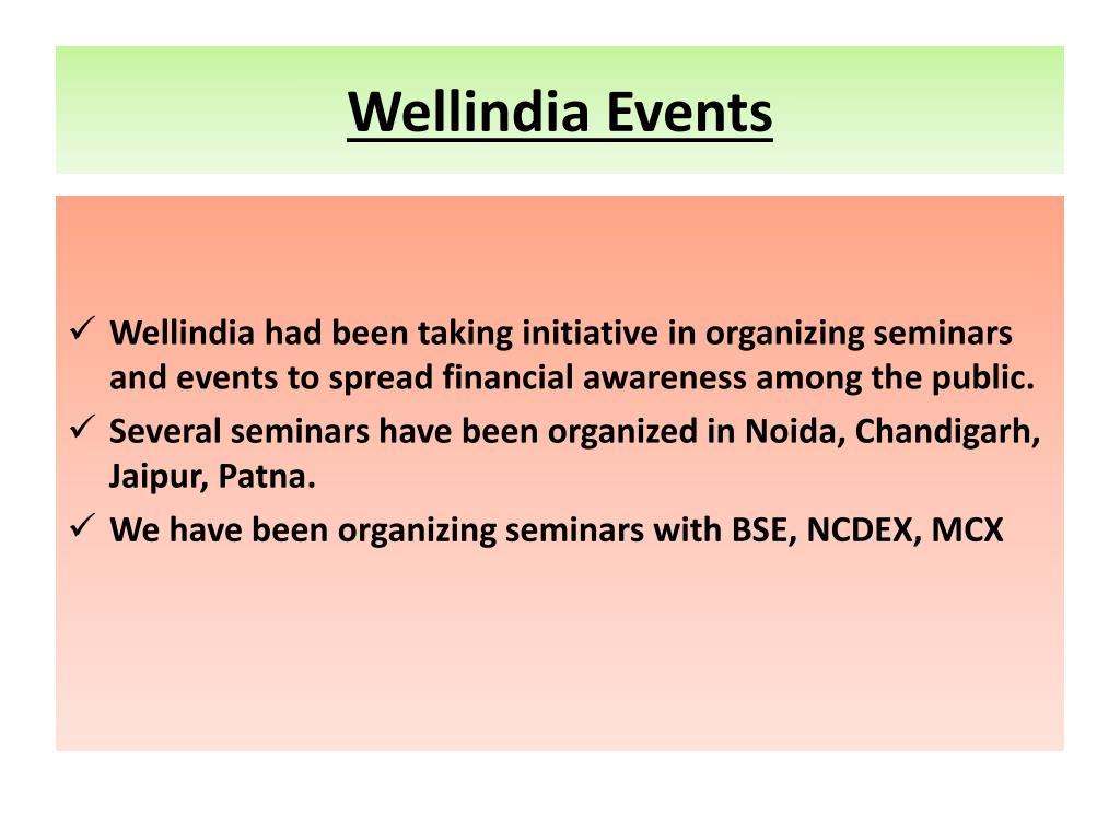 Wellindia Events