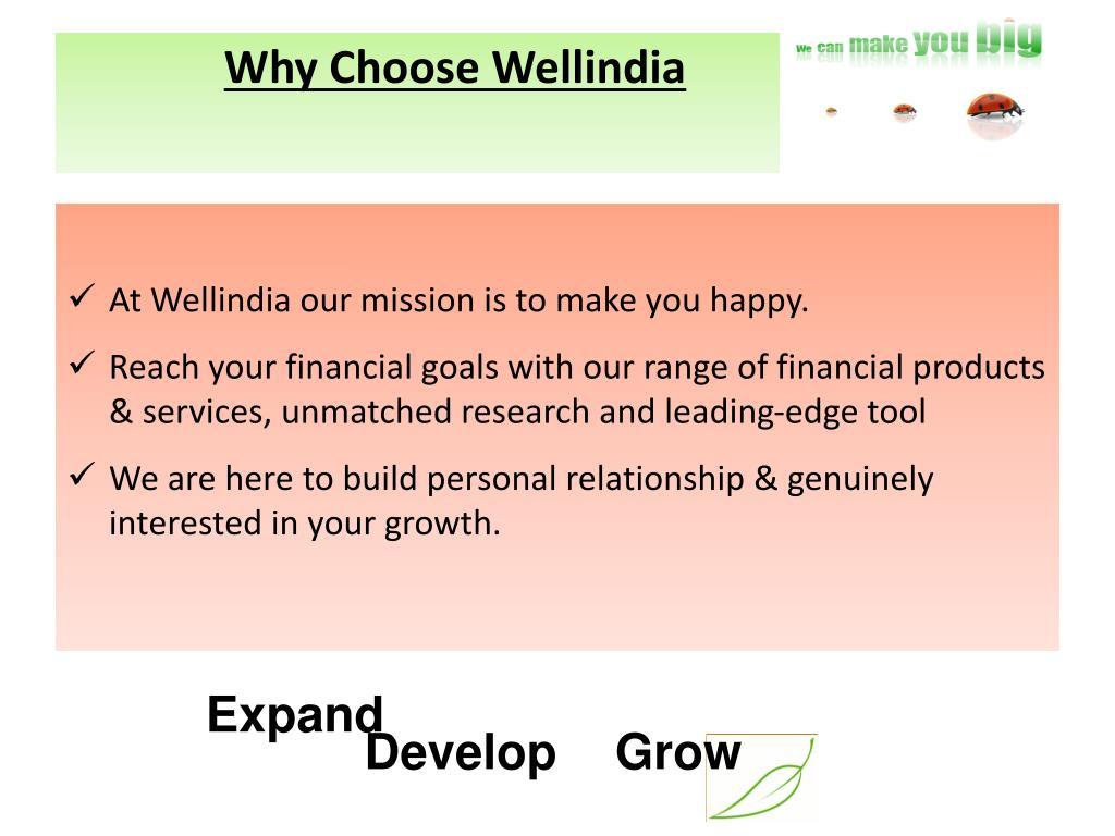 Why Choose Wellindia