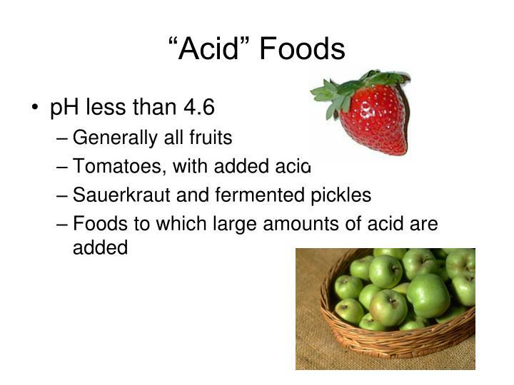 """""""Acid"""" Foods"""