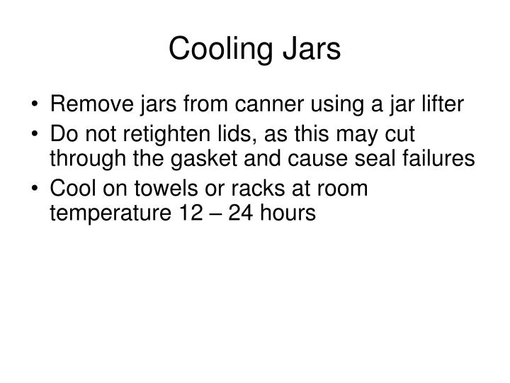 Cooling Jars