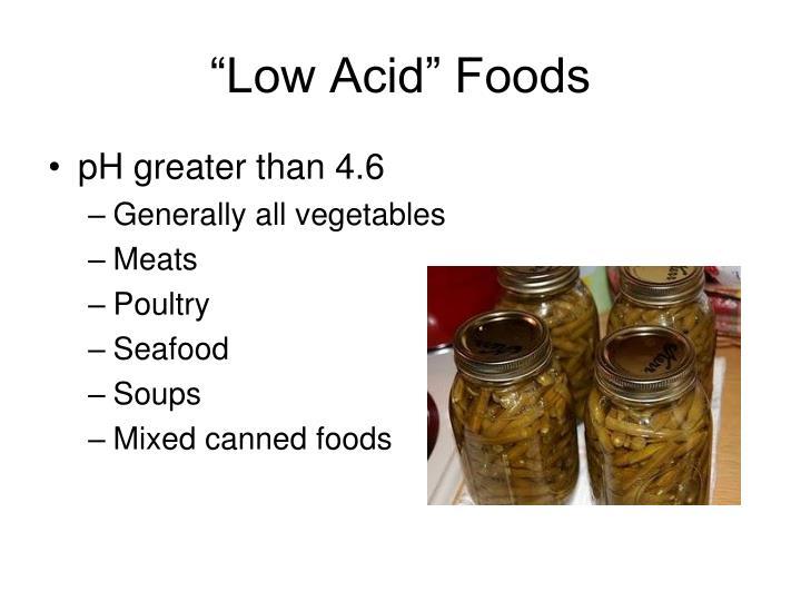 """""""Low Acid"""" Foods"""