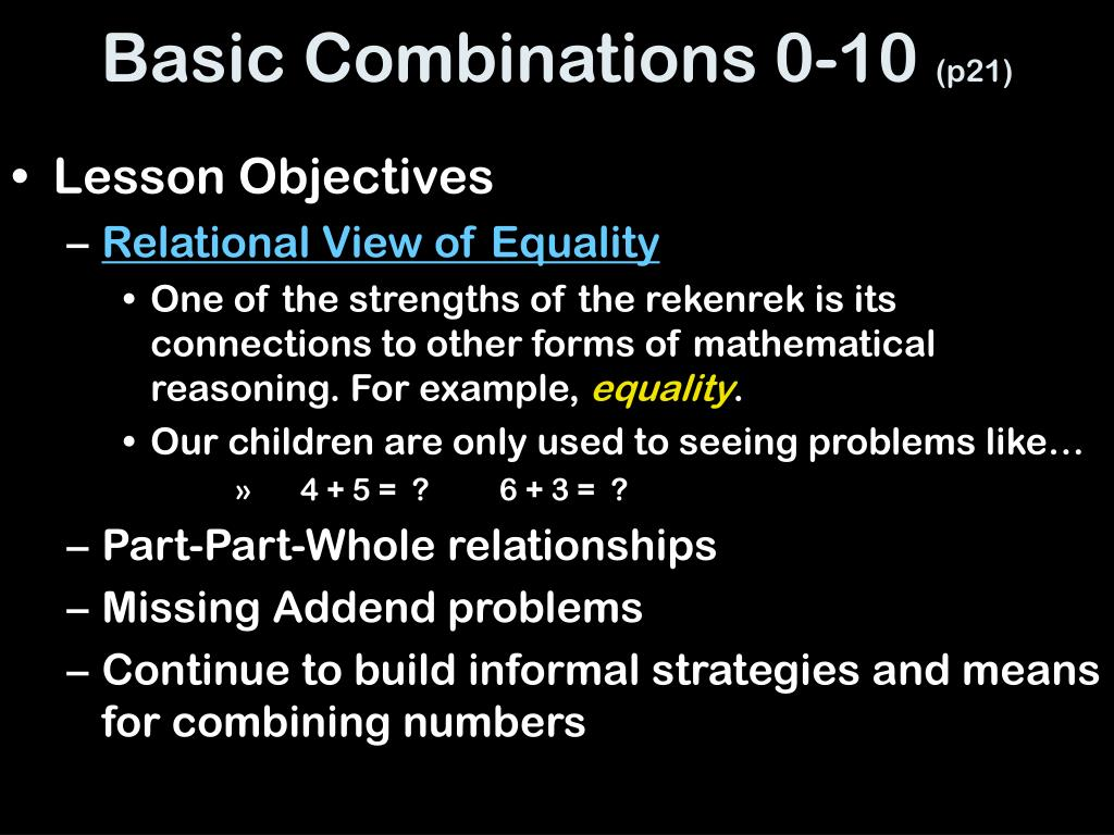 Basic Combinations 0-10