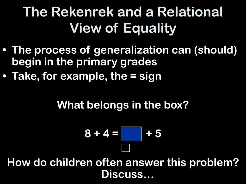 The Rekenrek and a Relational View of Equality