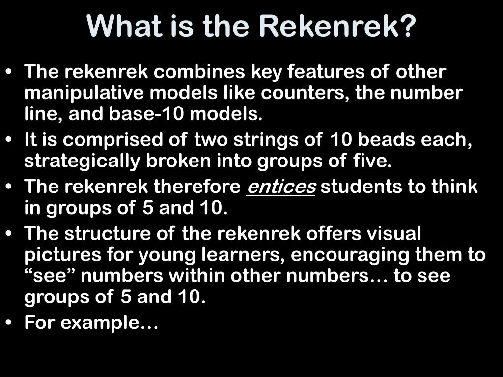 What is the Rekenrek?