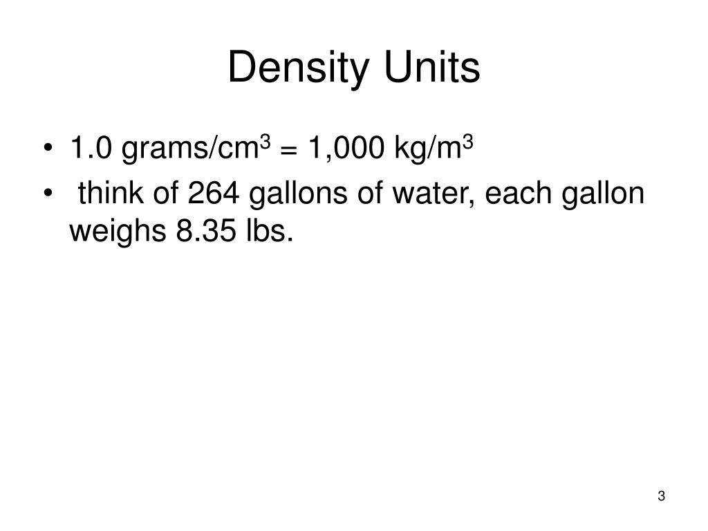 Density Units