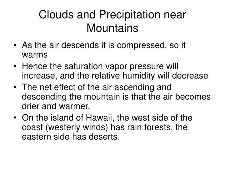 Clouds and Precipitation near Mountains